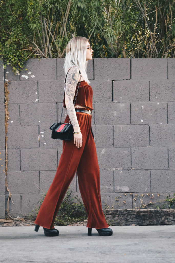 valentines day outfit red boho blogger leather doll