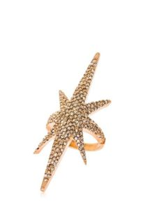 gold star design ring