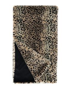 cheetah print faux fur throw blanket