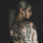 artemis tattoo blackwork